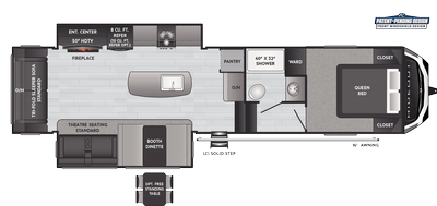 Hideout Fifth Wheel 300RLDS Floor Plan - 2021