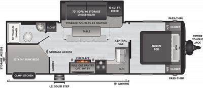 Hideout LHS 250BH Floor Plan - 2021