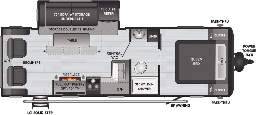 Hideout LHS 253RL Floor Plan - 2021