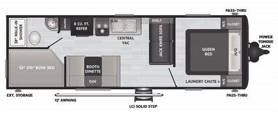 Hideout LHS 262BH Floor Plan - 2021
