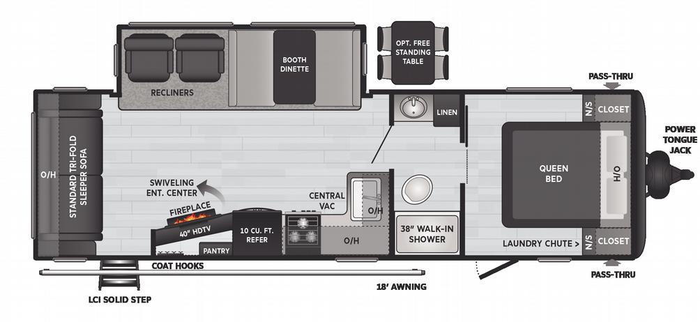 Hideout Luxury 27RLS Floor Plan - 2021