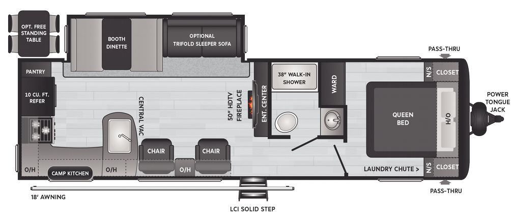 Hideout Luxury 28RKS Floor Plan - 2021