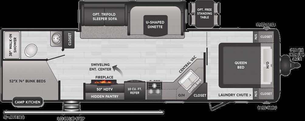 Hideout Luxury 29DFS Floor Plan - 2021