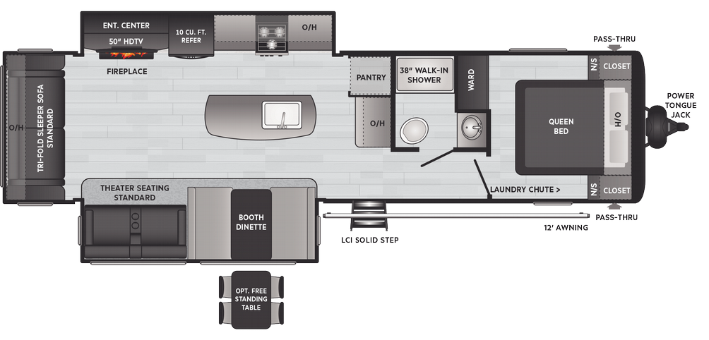 Hideout Luxury 30RLDS Floor Plan - 2021