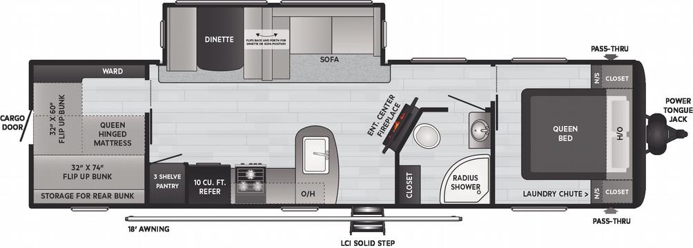 Hideout Luxury 32LBH Floor Plan - 2021