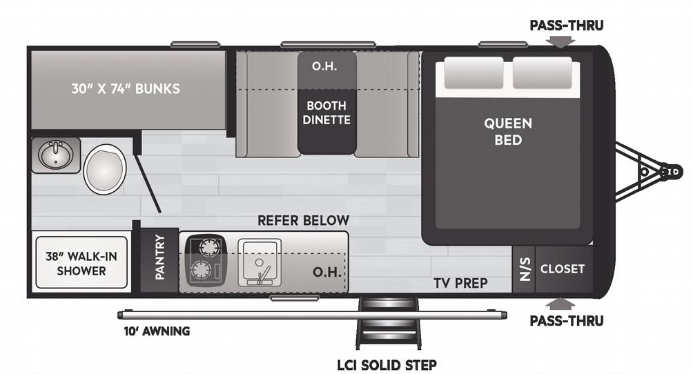 Hideout 175BH Floor Plan - 2021