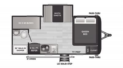 Hideout 176BH Floor Plan - 2021