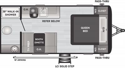 Hideout 178RB Floor Plan - 2021