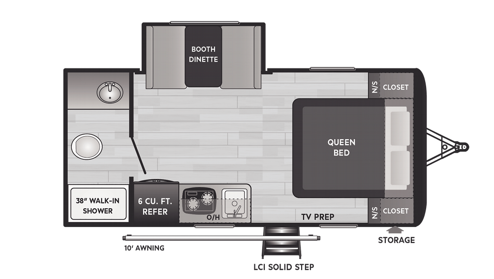 Hideout 179RB Floor Plan - 2021