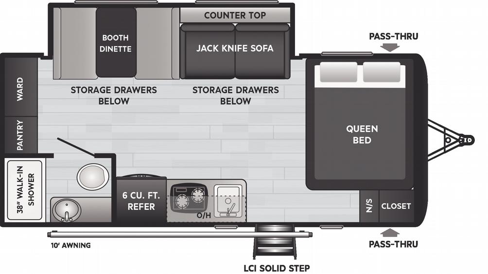 Hideout 186SS Floor Plan - 2021