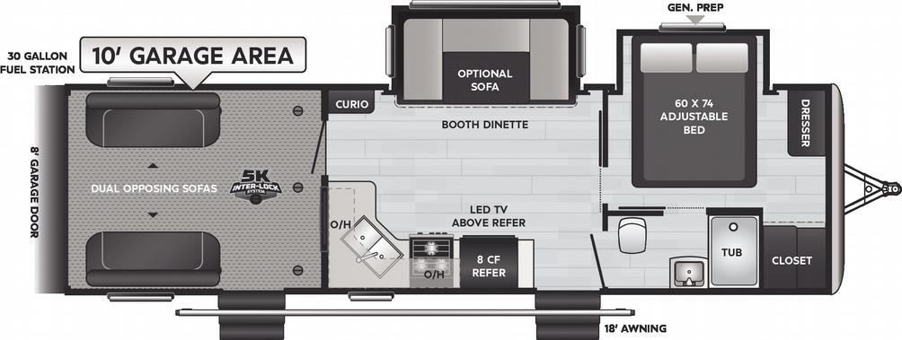 Impact Vapor Lite 29V Floor Plan - 2021