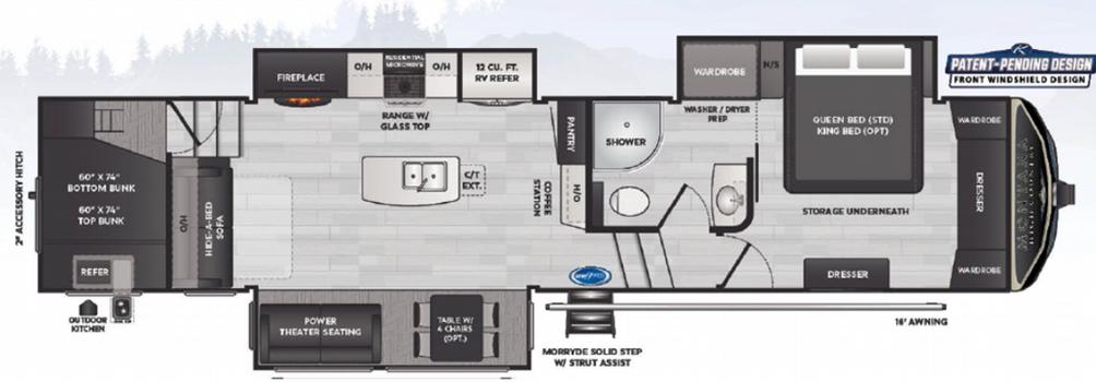 Montana High Country 350BH Floor Plan - 2021