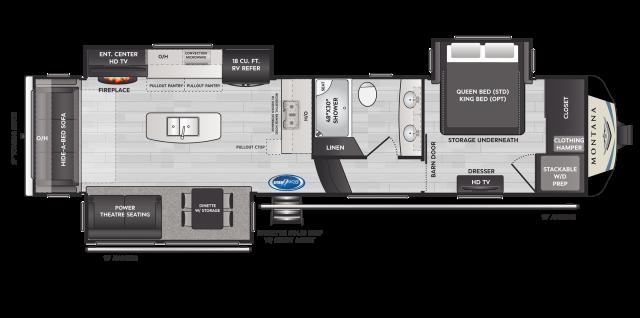 Montana 3230CK Floor Plan - 2021