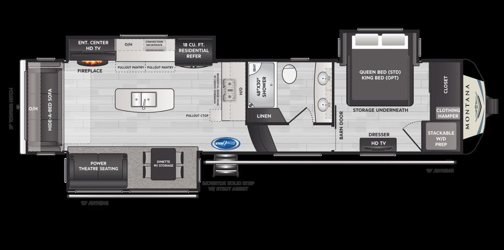 Montana 3231CK Floor Plan - 2021