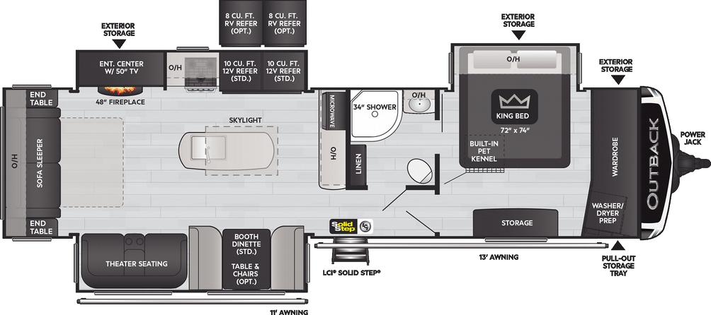 Outback 328RL Floor Plan - 2021
