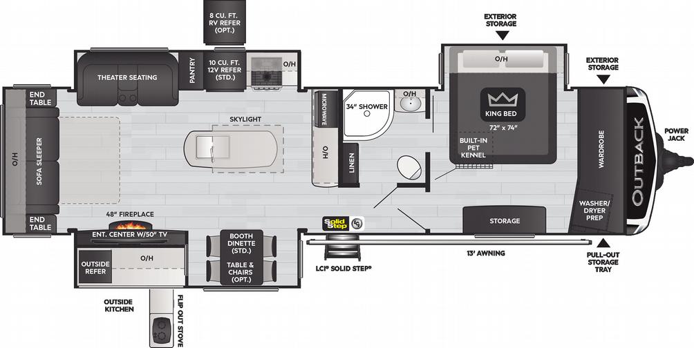 Outback 330RL Floor Plan - 2021