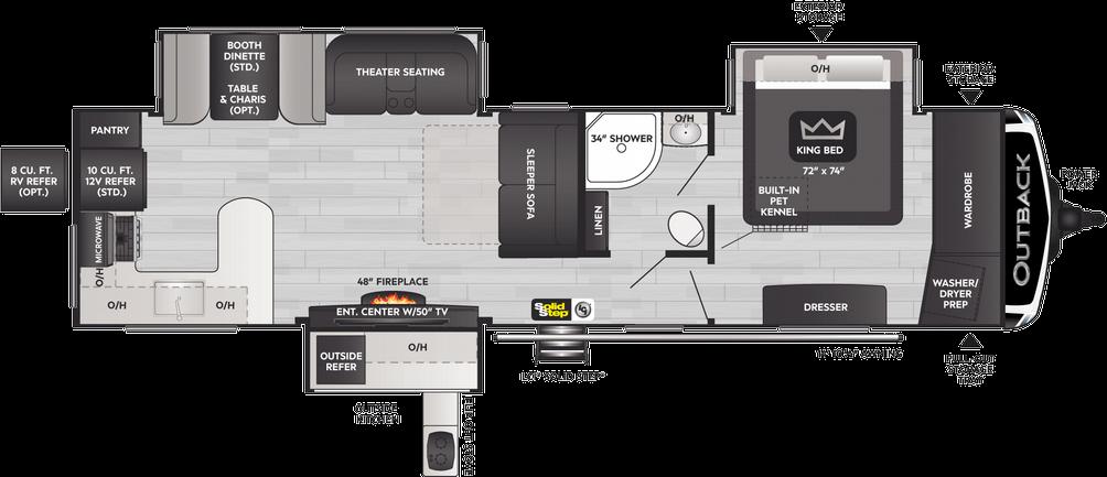 Outback 332ML Floor Plan - 2021