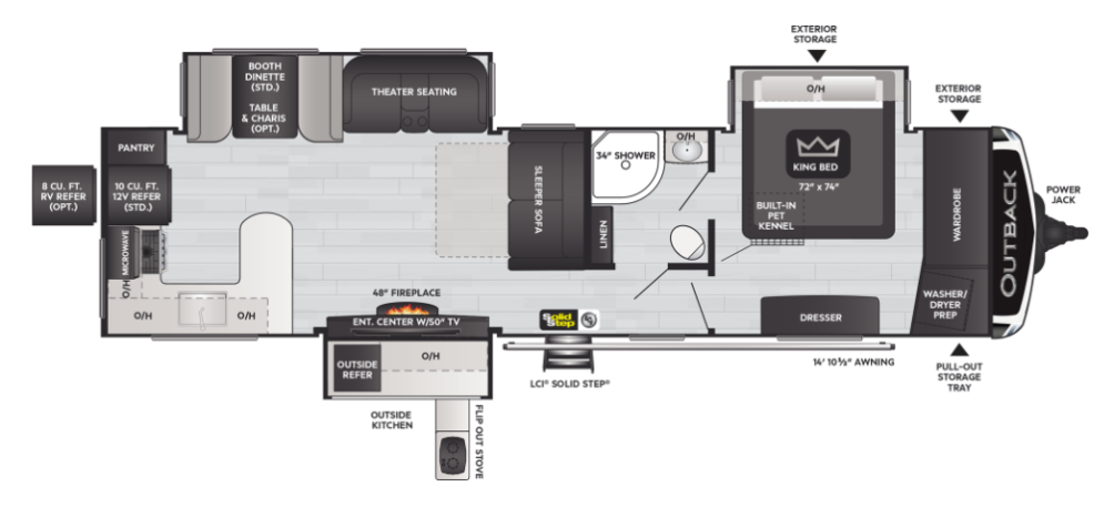 Outback 332ML Floor Plan - 2021