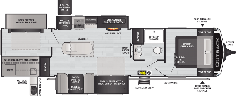 Outback 340BH Floor Plan - 2021