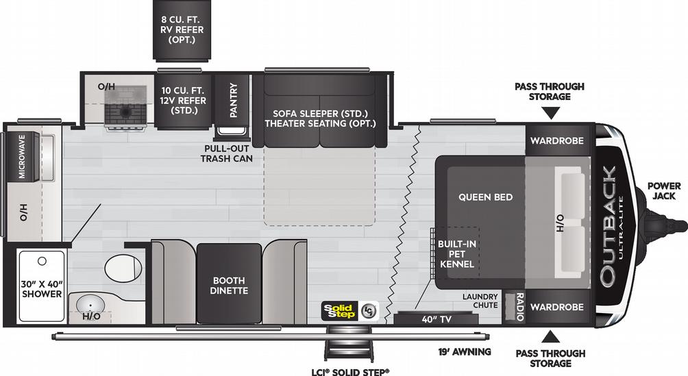 Outback Ultra Lite 221UMD Floor Plan - 2021