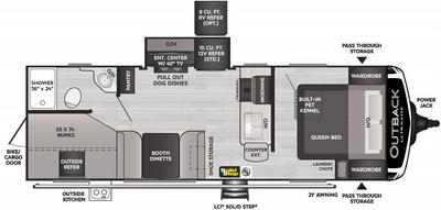 Outback Ultra Lite 244UBH Floor Plan - 2021
