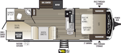 2021 Outback Ultra Lite 244UBH - OU3025
