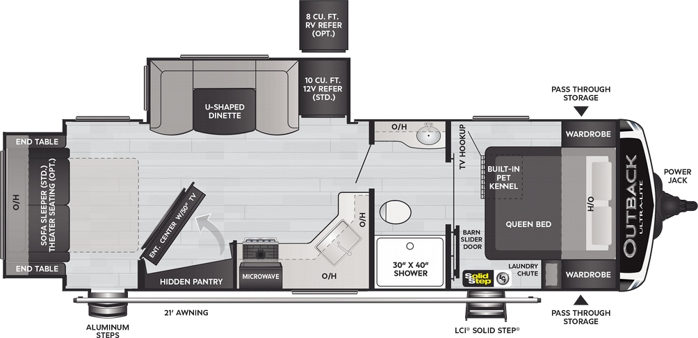 Outback Ultra Lite 252URS Floor Plan - 2021