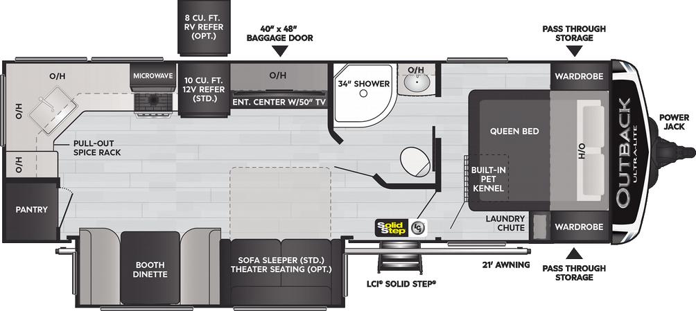 Outback Ultra Lite 260UML Floor Plan - 2021