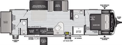 Outback Ultra Lite 301UBH Floor Plan - 2021