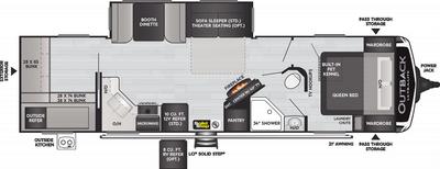 Outback Ultra Lite 302UBH Floor Plan - 2021