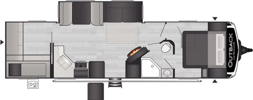 Outback Ultra Lite 302UBH Floor Plan - 2021