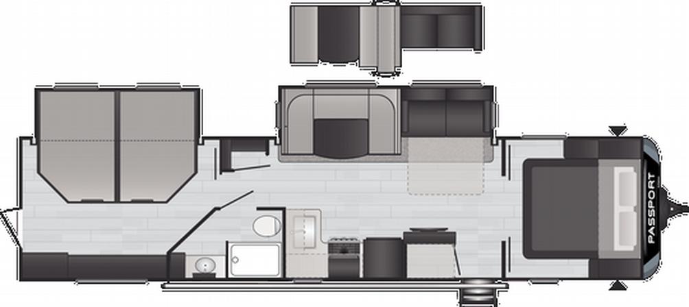 Passport GT Series 3401QD Floor Plan - 2021