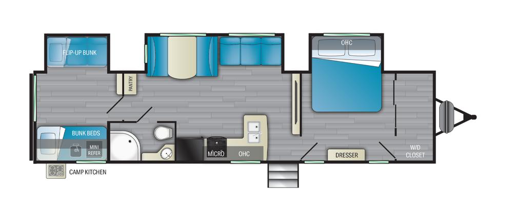 Prowler  335BH Floor Plan - 2022