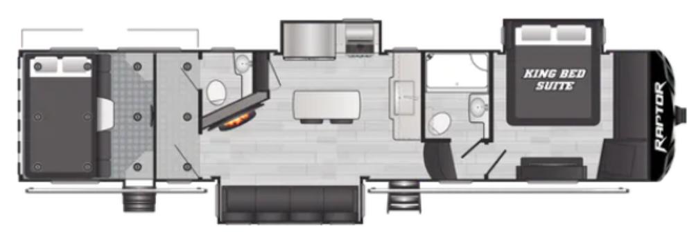 Raptor 352 Floor Plan - 2021
