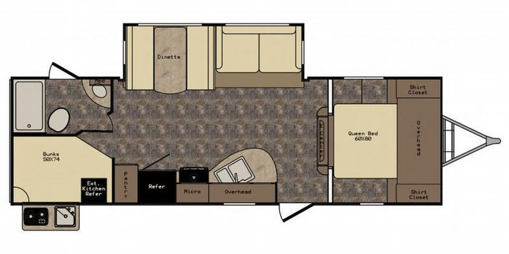Sunset Trail 270BH Floor Plan - 2016