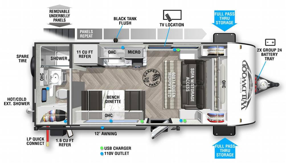 Wildwood FSX 167RBK Floor Plan - 2021