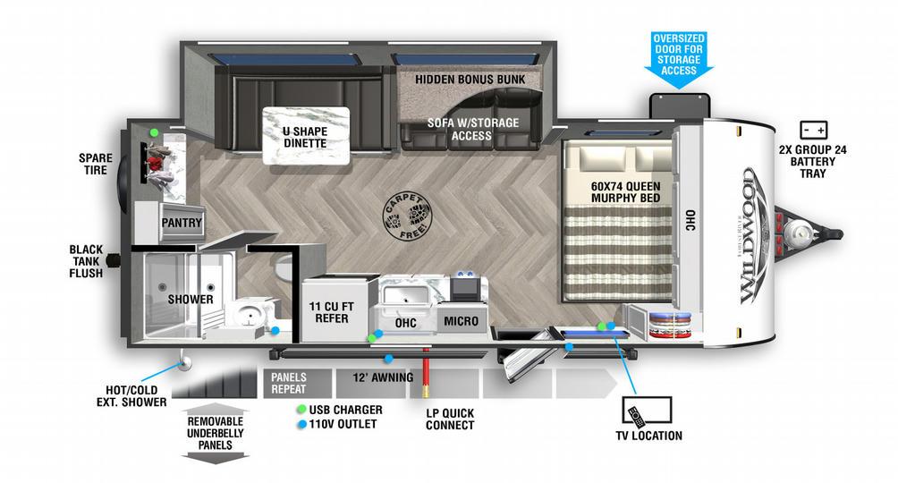 Wildwood FSX 170SSX Floor Plan - 2021
