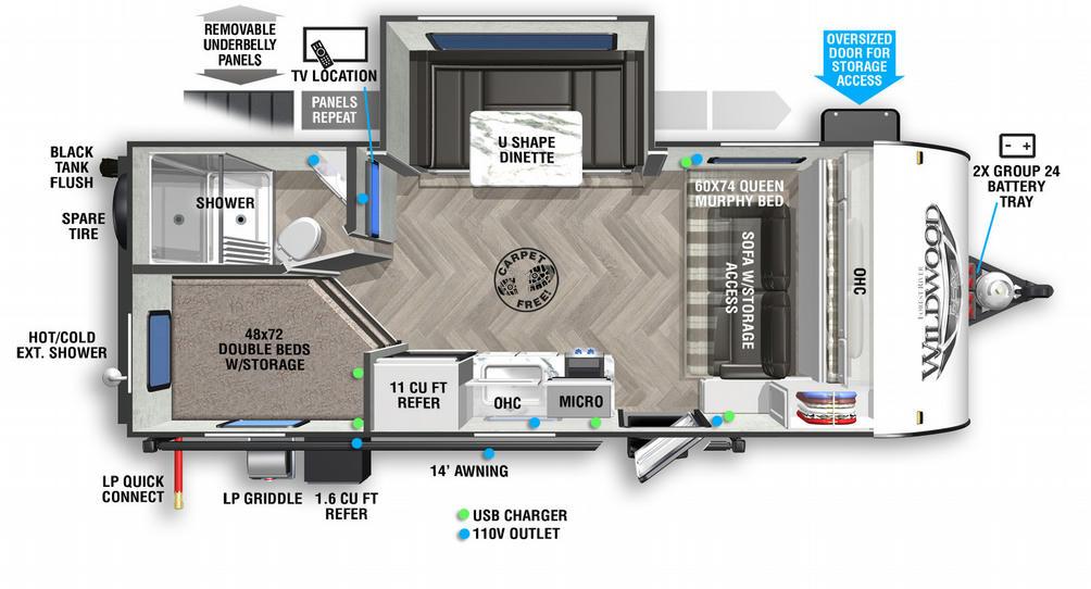 Wildwood FSX 178BHSK Floor Plan - 2021
