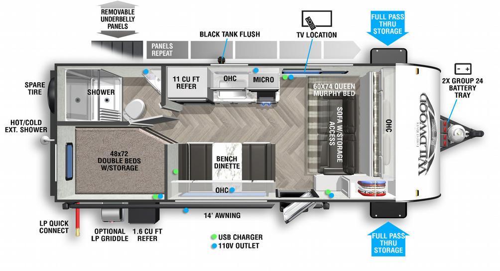 Wildwood FSX 179DBKX Floor Plan - 2021