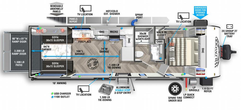 Wildwood FSX 270RTKX Floor Plan - 2021
