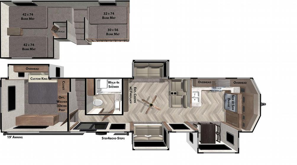 Wildwood Grand Lodge 42FK Floor Plan - 2021