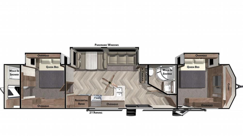 Wildwood Lodge 4002Q Floor Plan - 2021