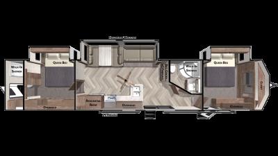 2021 Wildwood Lodge 4002Q - WI1987