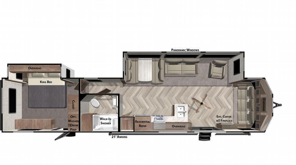 Wildwood Lodge 40FDEN Floor Plan - 2021