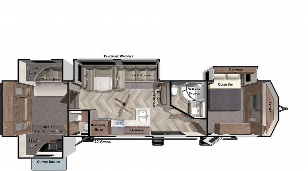 Wildwood Lodge 42QBQ Floor Plan - 2021