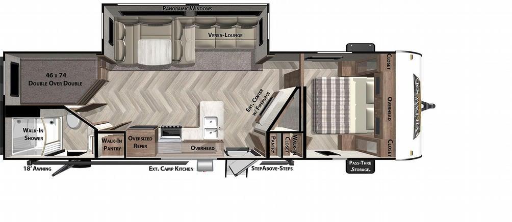 Wildwood 26DBUD Floor Plan - 2021