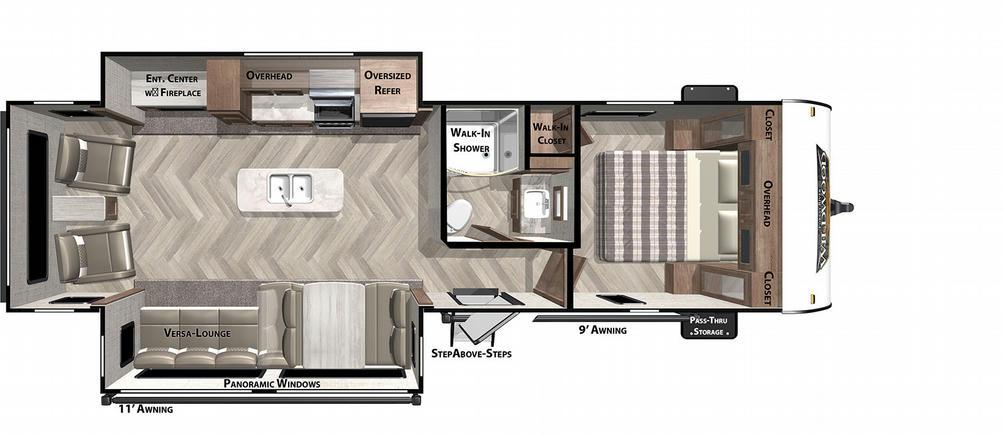Wildwood 27RE Floor Plan - 2021