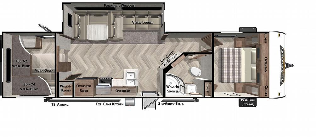 Wildwood 29VBUD Floor Plan - 2021