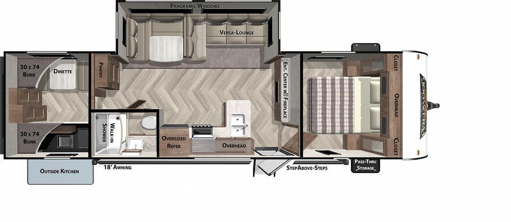 Wildwood 30KQBSS Floor Plan - 2021