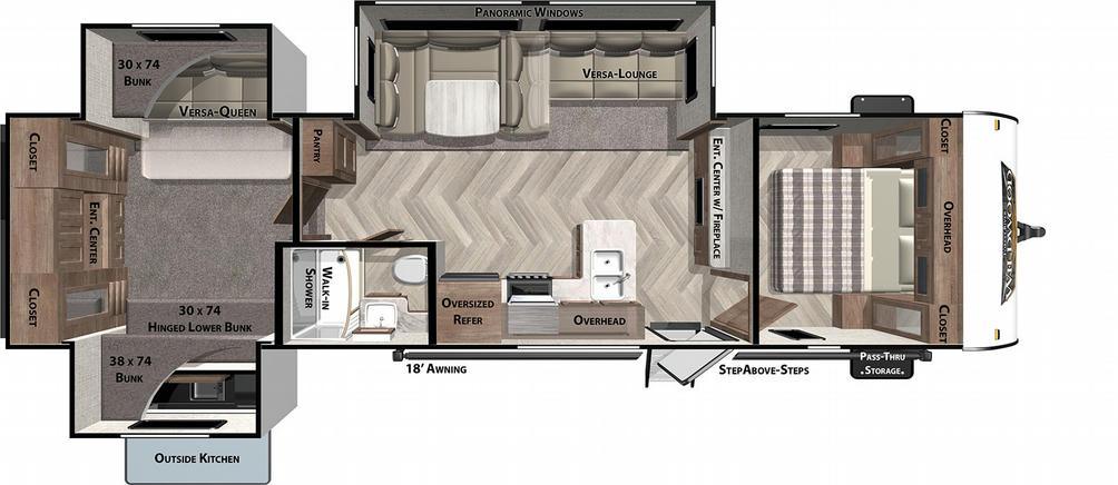 Wildwood 31KQBTS Floor Plan - 2021